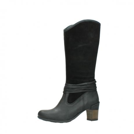 wolky lange laarzen 7742 moss 400 zwart suede_24