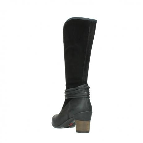wolky lange laarzen 7742 moss 400 zwart suede_5