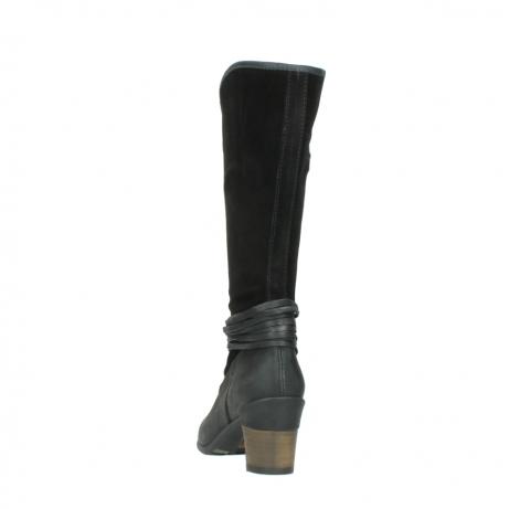 wolky lange laarzen 7742 moss 400 zwart suede_6