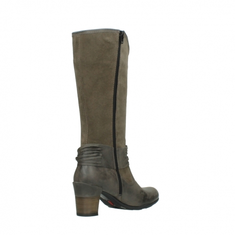 wolky hohe stiefel 7742 moss 415 taupe veloursleder_10