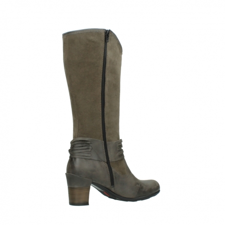 wolky hohe stiefel 7742 moss 415 taupe veloursleder_11