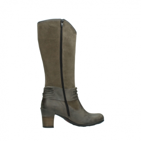 wolky hohe stiefel 7742 moss 415 taupe veloursleder_12