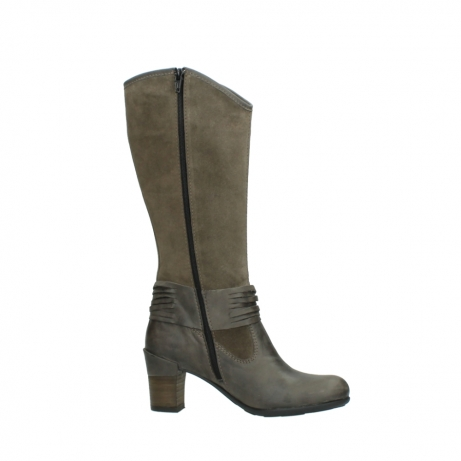wolky hohe stiefel 7742 moss 415 taupe veloursleder_14