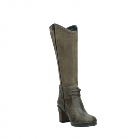 wolky hohe stiefel 7742 moss 415 taupe veloursleder_17