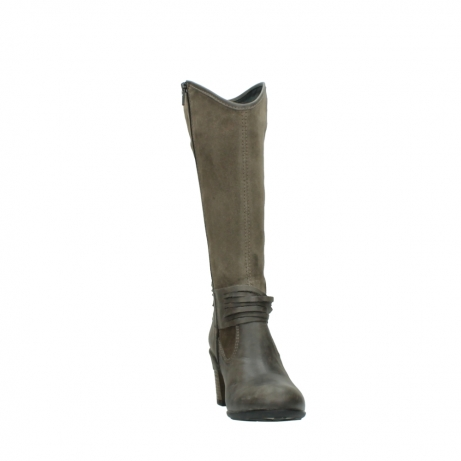 wolky hohe stiefel 7742 moss 415 taupe veloursleder_18
