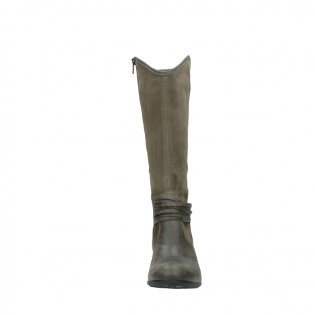 wolky hohe stiefel 7742 moss 415 taupe veloursleder_19