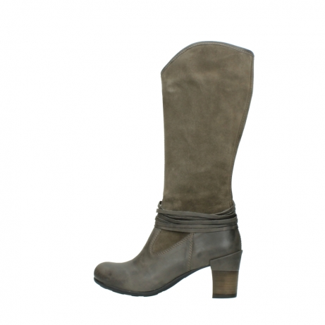 wolky hohe stiefel 7742 moss 415 taupe veloursleder_2