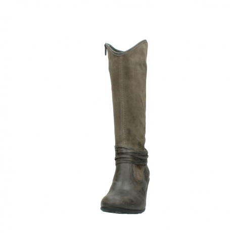 wolky hohe stiefel 7742 moss 415 taupe veloursleder_20