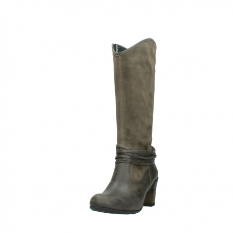 wolky hohe stiefel 7742 moss 415 taupe veloursleder_21