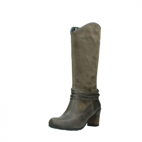 wolky hohe stiefel 7742 moss 415 taupe veloursleder_22