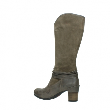 wolky hohe stiefel 7742 moss 415 taupe veloursleder_3