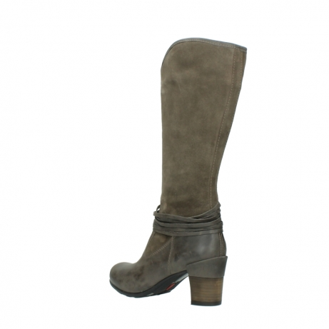 wolky hohe stiefel 7742 moss 415 taupe veloursleder_4