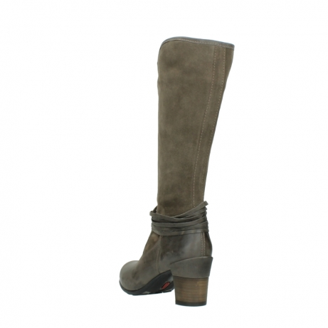 wolky hohe stiefel 7742 moss 415 taupe veloursleder_5
