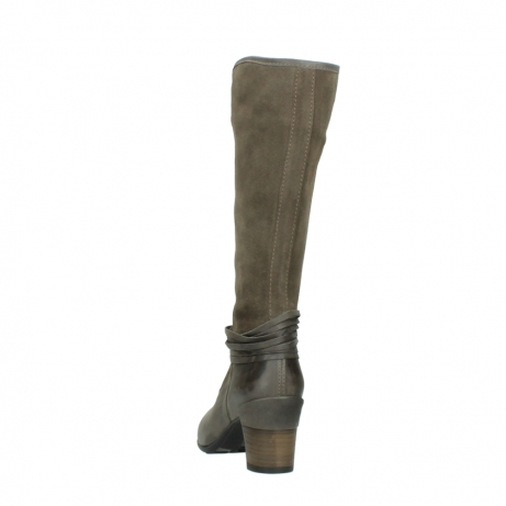 wolky hohe stiefel 7742 moss 415 taupe veloursleder_6