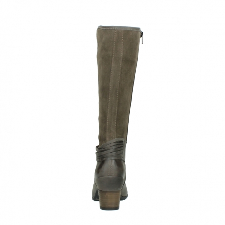 wolky hohe stiefel 7742 moss 415 taupe veloursleder_7