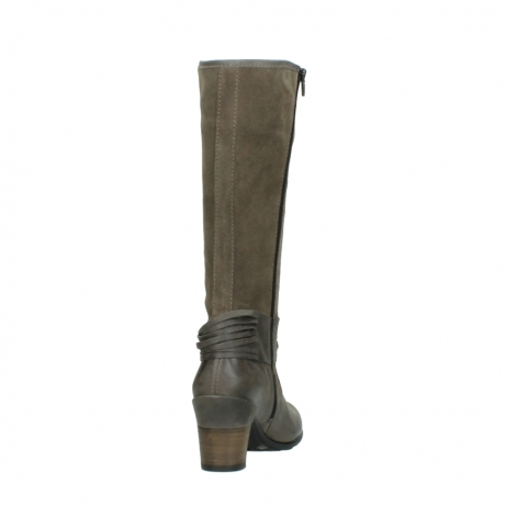 wolky hohe stiefel 7742 moss 415 taupe veloursleder_8