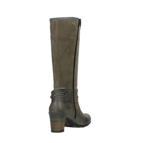wolky hohe stiefel 7742 moss 415 taupe veloursleder_9