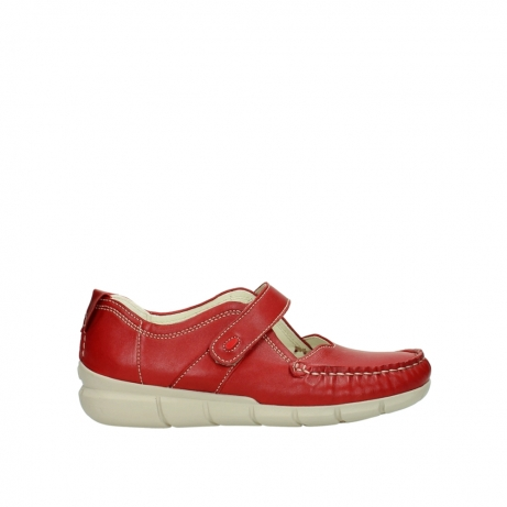 wolky mocassins 1500 yukon 757 rood zomer leer