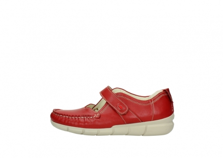 wolky mocassins 1500 yukon 757 rood zomer leer_1