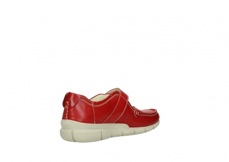 wolky mocassins 1500 yukon 757 rood zomer leer_10