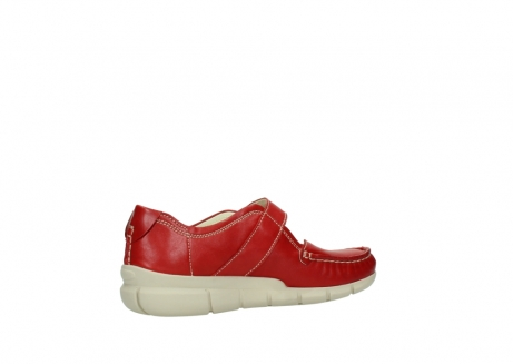 wolky mocassins 1500 yukon 757 rood zomer leer_11