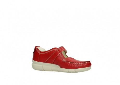 wolky mocassins 1500 yukon 757 rood zomer leer_15
