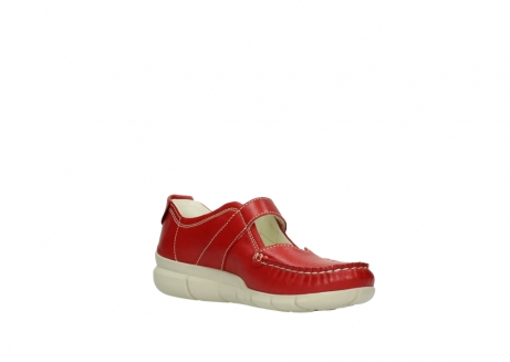 wolky mocassins 1500 yukon 757 rood zomer leer_16