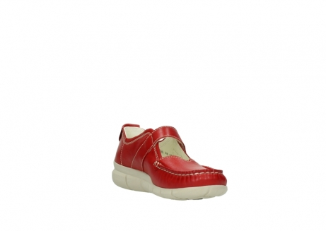 wolky mocassins 1500 yukon 757 rood zomer leer_17