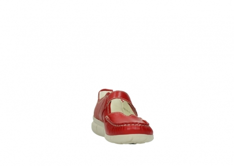 wolky mocassins 1500 yukon 757 rood zomer leer_18