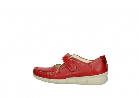 wolky mocassins 1500 yukon 757 rood zomer leer_2