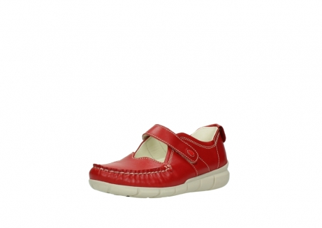 wolky mocassins 1500 yukon 757 rood zomer leer_22