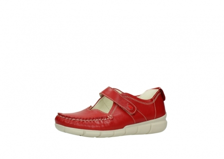 wolky mocassins 1500 yukon 757 rood zomer leer_23