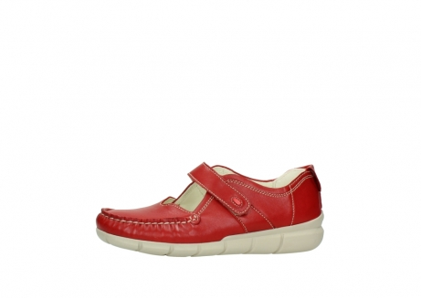 wolky mocassins 1500 yukon 757 rood zomer leer_24