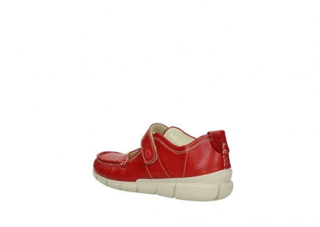 wolky mocassins 1500 yukon 757 rood zomer leer_4