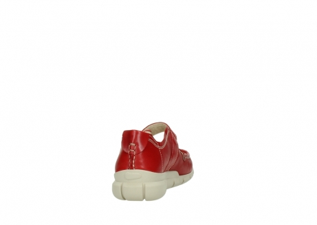 wolky mocassins 1500 yukon 757 rood zomer leer_8