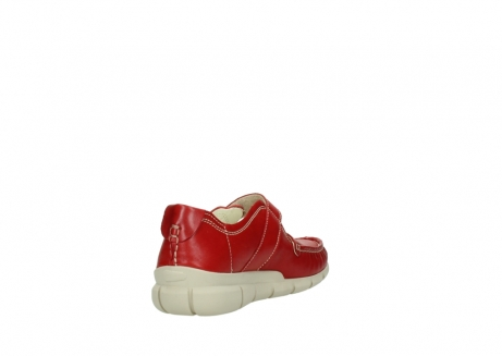 wolky mocassins 1500 yukon 757 rood zomer leer_9