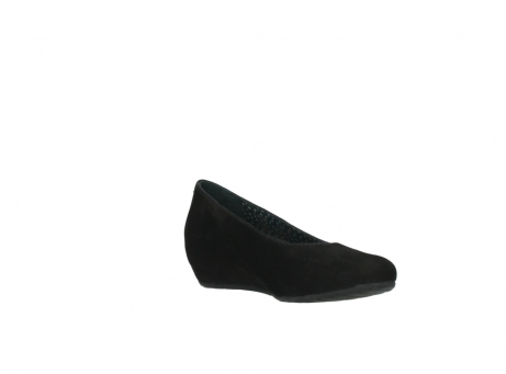 wolky court shoes 01910 capella 40000 black suede_16