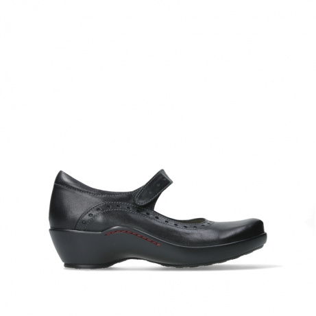 wolky court shoes 03450 sud 50000 black leather