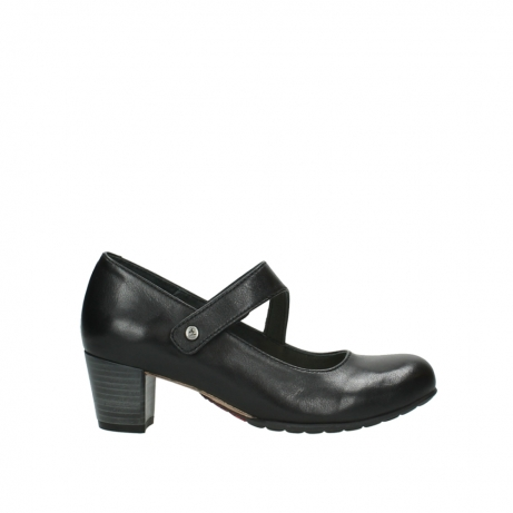 wolky court shoes 03754 conga 20000 black leather