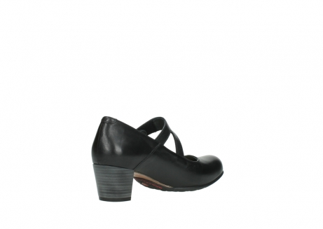 wolky court shoes 03754 conga 20000 black leather_10