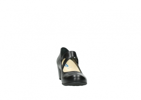 wolky court shoes 03754 conga 20000 black leather_18