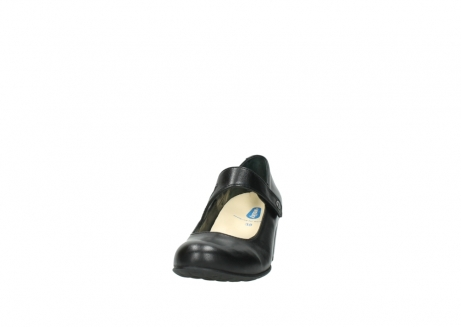 wolky court shoes 03754 conga 20000 black leather_20