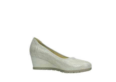 wolky court shoes 04665 ocean 20120 off white silver printed leather_15
