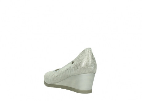 wolky court shoes 04665 ocean 20120 off white silver printed leather_5