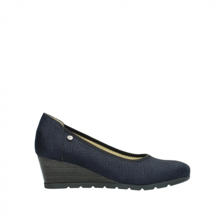 wolky court shoes 04665 ocean 90803 blue printede suede