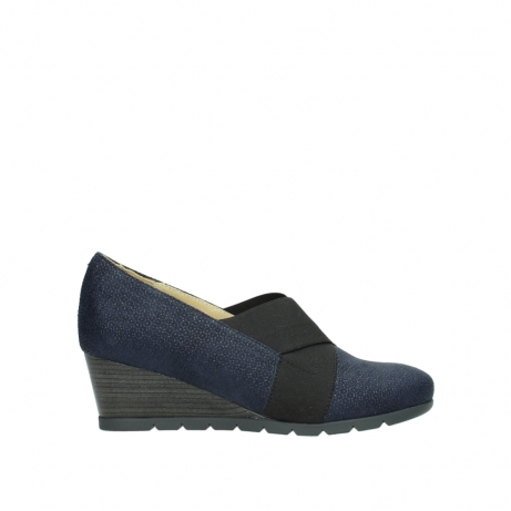 wolky court shoes 04667 fonda 90803 blue printed suede