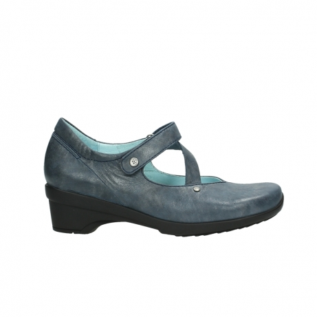 wolky pumps 07657 georgia 80800 blauw leer