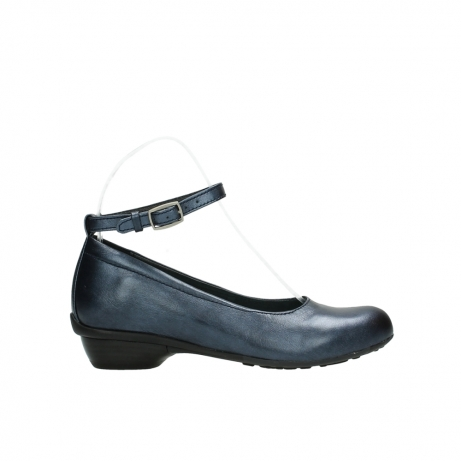 wolky court shoes 07952 monelli 90800 blue metallic leather