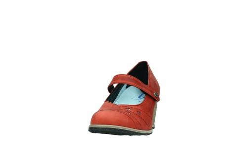 wolky pumps 4655 oliva 553 koraal rood geolied leer_20