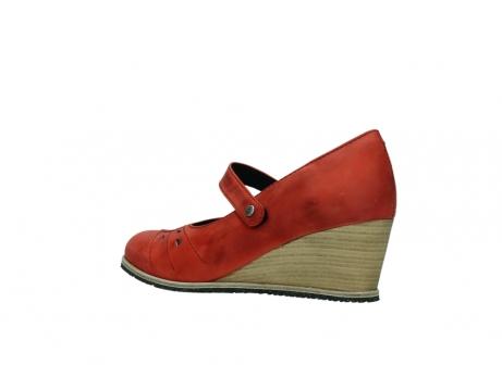 wolky pumps 4655 oliva 553 koraal rood geolied leer_3